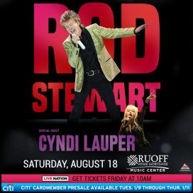 Rod Stewart w/ Cyndi Lauper @ Ruoff Home Mortgage Music Center | Noblesville | Indiana | United States