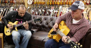 Joe Bonamassa jams at a guitar store in L.A.