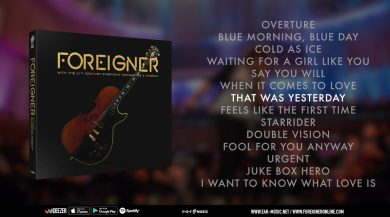 Foreigner's new album and DVD